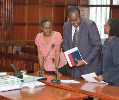 (L-R) BAKE General Manager Jane Muthoni, Lawyer Demas Kiprono from Article 19 & BAKE Lawyer Mercy Mutemi